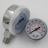 magnehelic pressure gauge with center back connection