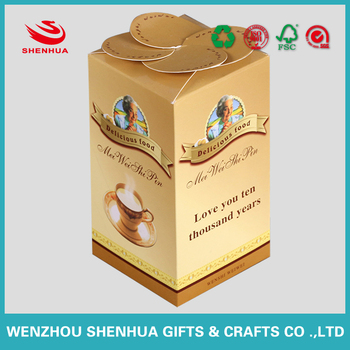 beautiful and special flower design paper packaging box for coffee