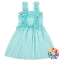 New Style Girls Puffy Dresses For Kids Baby Girl Boutique Ruffle Halter Dress Wholesale Cotton Childern Dresses