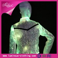 fiber optic clothing luminous light latest fashion suit jacket for women girls