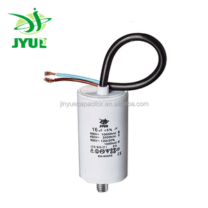 ac motor run sh capacitor with plastic case with UL ROHS CE 500vac capacitor cbb60