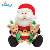 "Direct factory 12"" Christmas Santa with Elf Helpers Plush Toy"