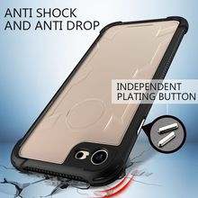 Atouchbo Shockproof transparent clear TPU Cover Mobile Phone Armor Case For iphone 7