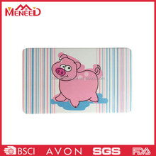 Rectangular melamine breakfast chopping board, funny cute thin plastic cutting board