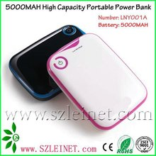 2012 New Products 5000MAH High Capacity Power Bank Battery