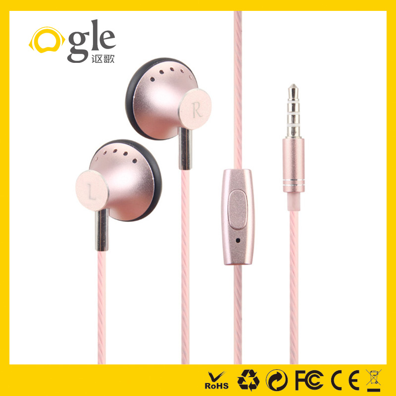 Alibaba Mini earbuds earphone best metal ear plugs with mic for girls