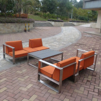 Stainless steel outdoor sofa furniture set