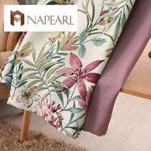 NAPEARL eco friendly stitching bay window curtains