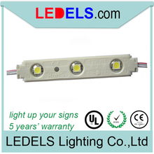 UL led module for show case with SMD 5050 LED and lens 120 degrees 12v 0.72w