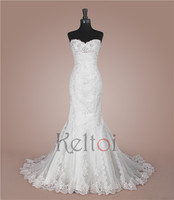 mermaid sweetheart Neckline crochet exotic wedding dresses made in usa
