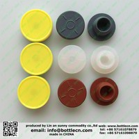 13mm 20mm red vermilion pharmaceutical butyl rubber stopper for injection vials