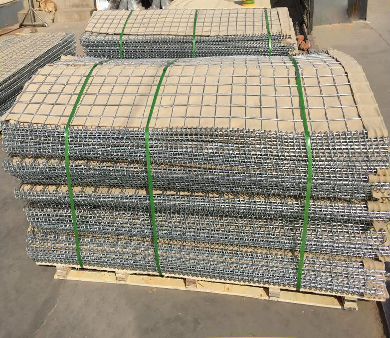 Galvanized steel wire welded bastion blast wall/military retaining wall barrier for sale