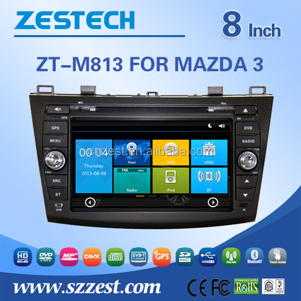 "ZESTECH 7"" touch screen car dvd players for Mazda 3"