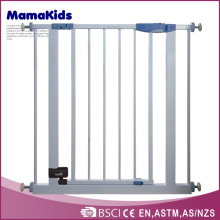 Easy-Close Metal Safety Gate,White