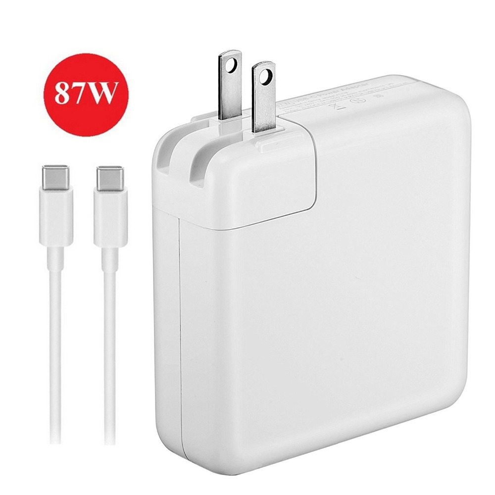 USB-<strong>C</strong> 87W Power Adapter for Macbook Pro 15 Inch Laptop, Replacement Charger for Macbook Pro Charger, with USB-<strong>C</strong> to USB-<strong>C</strong> Charger