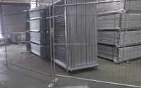 Visiable 6ft Height Galvanized Temporary Fence Panel
