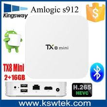 Super Slim And Mini One Android 6.0 4K 3D Resolution Octa Core Amlogic S912 Tv Box