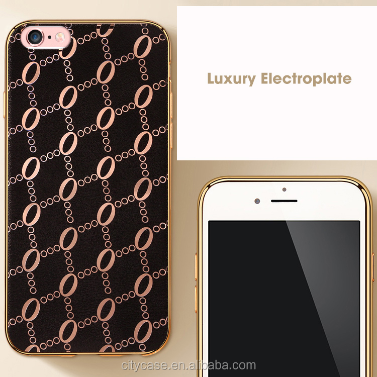 city&case 2016 Luxury imitation leather mobile phone cover case soft for iPhone5/6/6p/7/7p