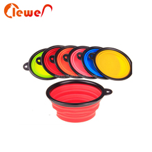 Eco-friendly Food Grade Folding Colorful Silicone Pet Dog Bowl For Travel