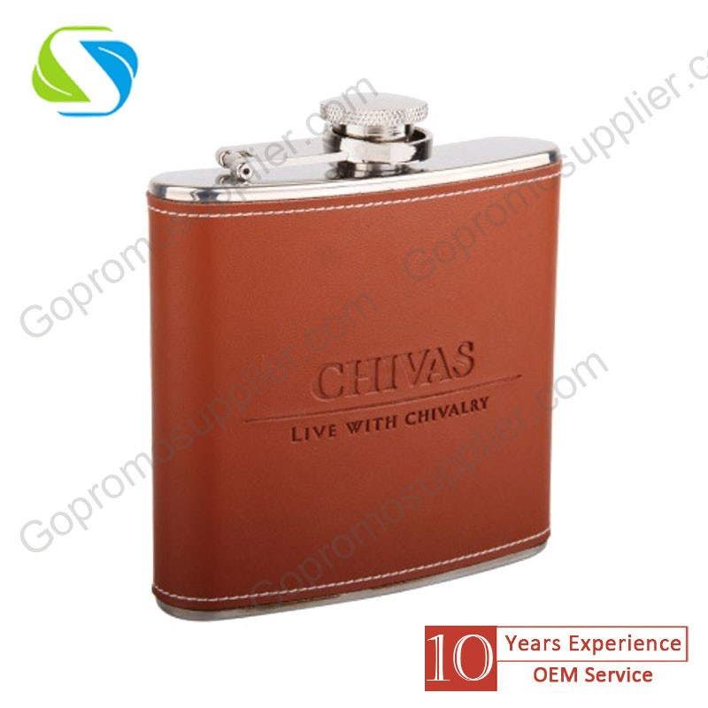 new design fashion 8OZ stainless steel hip flask as wedding gift