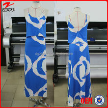 New arrival royal blue and white women maxi dresses party wear, tie dye maxi long party dress for women 2016 australia style