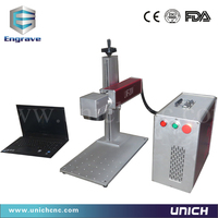 smart and strong enough portable fiber laser marking machine for metal/laser marking table