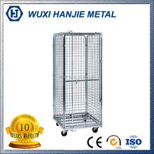 Hot Sales product supermarket roll cages/Storage cage cart/Steel wire mesh containers(HJ-RC264)