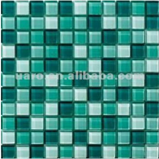 Hight Quality Green Swimming pool Crystal Glass Mosaic Tile