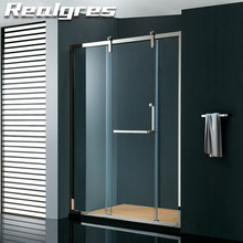 FA130 Booth Cubicle Sizes 5mm Tempered Glass Hingle Door Shower Room