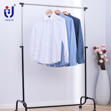 Credible telescopic hotel clothes rack bedroom wooden for hanging clothes