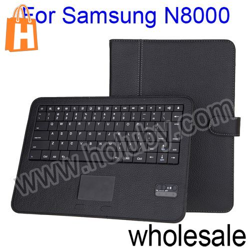Flip Stand Leather Case Bluetooth Keyboard For Samsung Galaxy Note 10.1 N8000 N8010 With Touch Pad