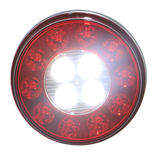 4'' round auto accessories lamp truck rear tail light lamp led 12v