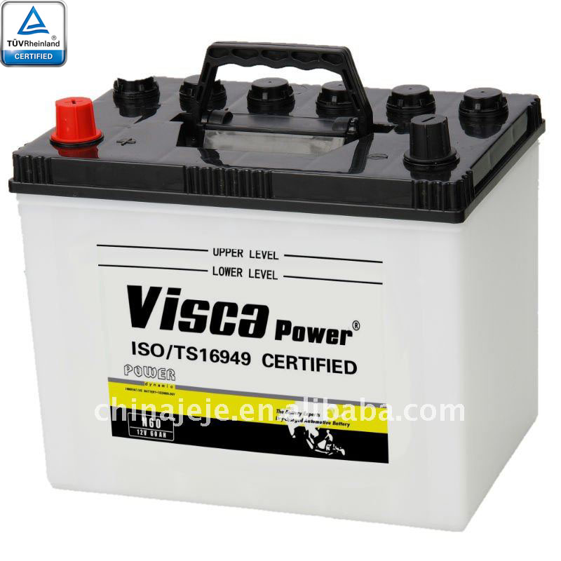 Lead acid battery N60 12V60AH VISCA
