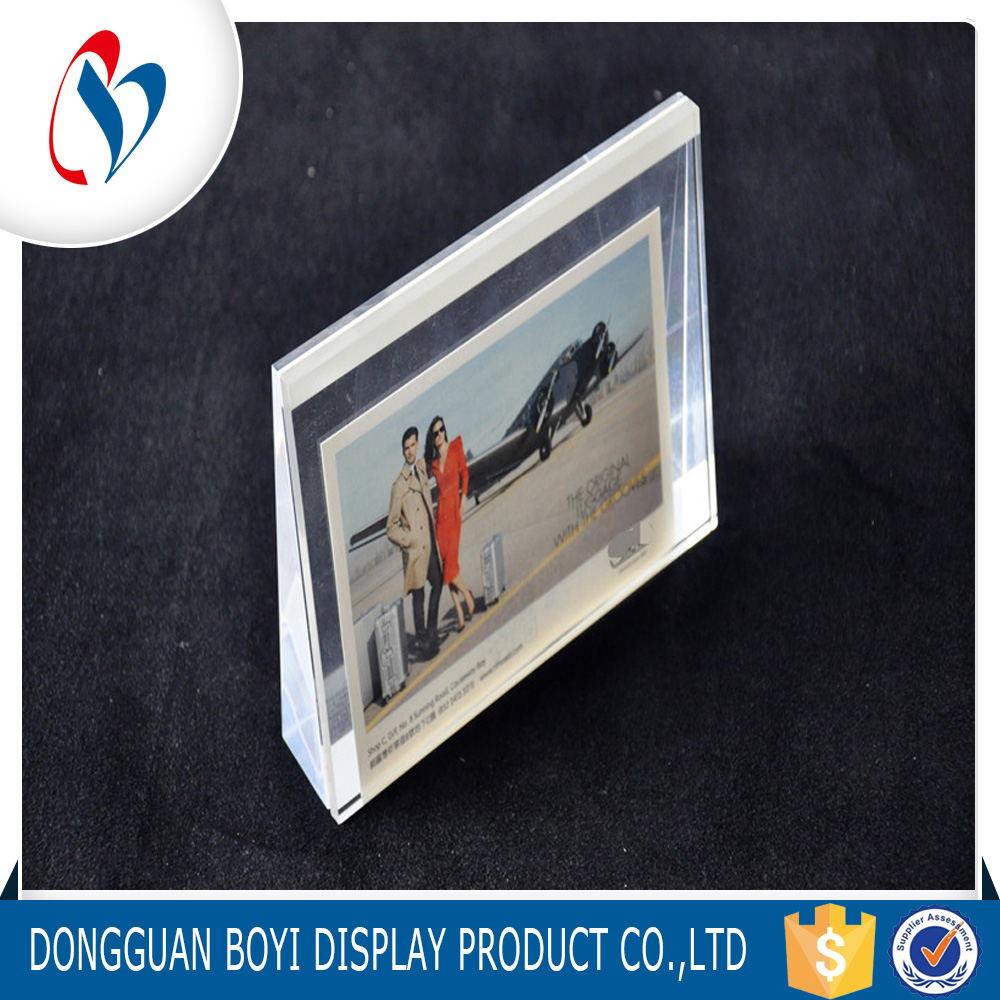 Good Quality Plexiglass Plicture Frame Customized Acrylic Table Stand Photo Frame