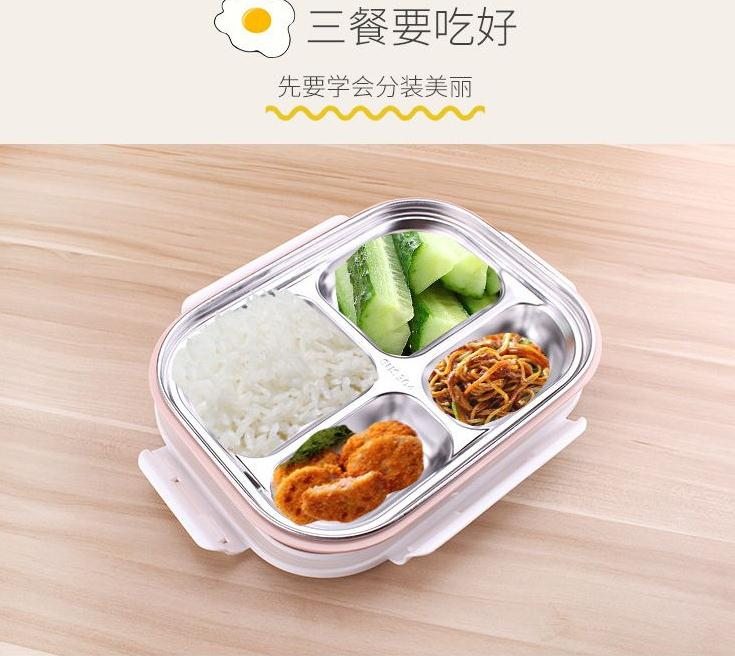 China suppliers portable durable sanitary stainless steel thermal insulation lunch box for children