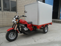 200CC 3 Wheel Motor Tricycle Closed Body Cargo Trike Single Cylinder Gas Petrol Drum Brake