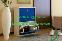 blue color beautiful KD design cabinet for shoes