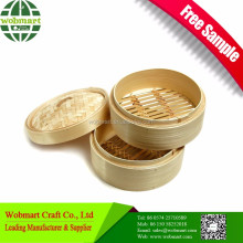 Hot Sale Food Grade Cheap Price Bamboo Basket Steamer