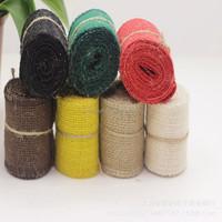 wedding decoration natural jute yarn lace trim burlap ribbon