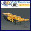 lower price 3axles 40ft skeleton trailer manufacture