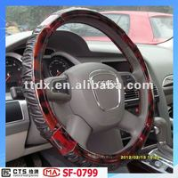 fashion new design PVC car wood 14 inch steering wheel covers for girls from manufacture