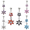 Surgical Steel Dangle Navel Belly Button Ring Bar BER-011