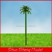 scale 1:1000 Copper Palm Tree Model Scenery Tree Palm Tree for Train Layout 2.5cm height