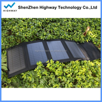 Dual USB Output Foldable Solar Mobile Power Supply System 14w Mobile Solar Panel for Travelling
