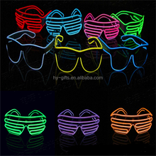 fashion women men party led light sunglasses party el wire glasses with shutter