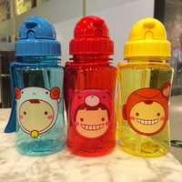 NEW kids water bottle /plastic drinking bottle with straw