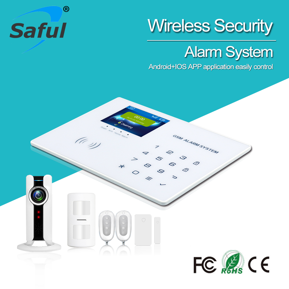 Saful touch keypad Smart Home Family Wireless Security Alarm System