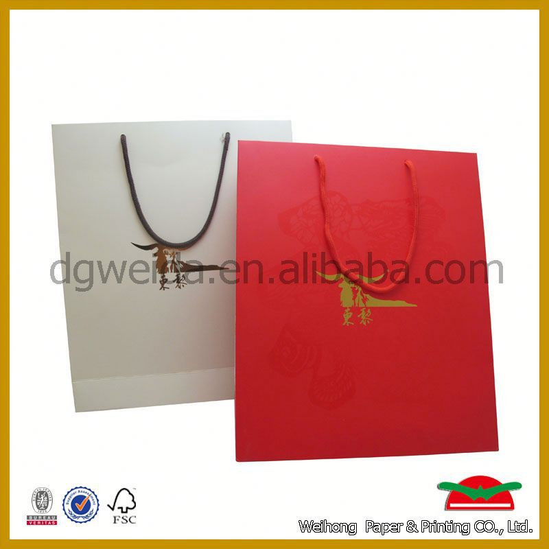 fancy design high end drawstring gift bags