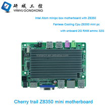 Original factory Wholesale Intel Z8350 Smart TV Box motherboard WIN10 MINI PC board with 2G ram 32G eMMC