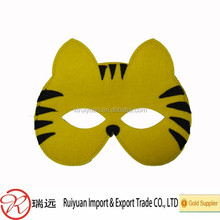 pretty tiger head shape felt mask for party